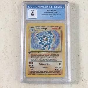 Machamp 1st Edition Pokémon Holo 1999 8/102 CGC 4